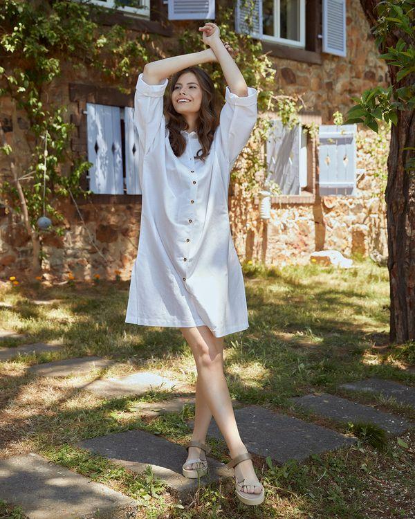 keten-gomlek-elbise-tek-beden---beyaz-152269
