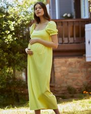 balon-kollu-hamile-elbise-s---sari-701441