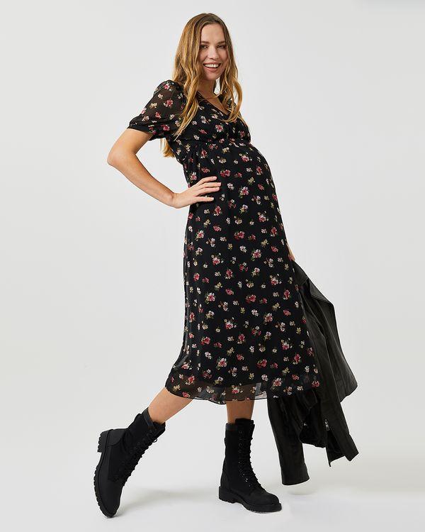 627138-cicek-desenli-uzun-sifon-elbise-l